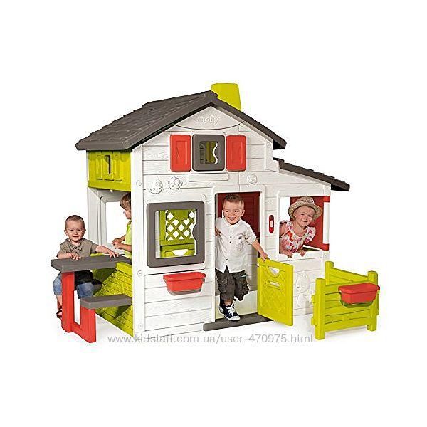 Дом домик для друзей с чердаком и дверным звонком Smoby 310209