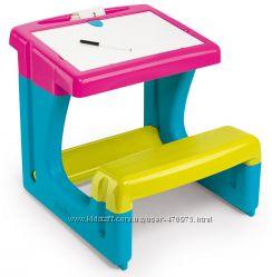 Детская парта двухсторонний мольберт Smoby 420102 с доской для рисования