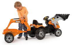 Трактор с ковшом и прицепом Builder Max Smoby 710110