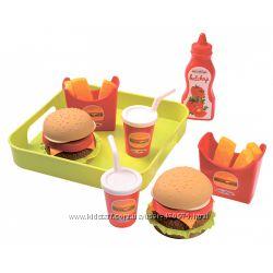 Набор продуктов Ecoiffier Гамбургер с подносом 000957