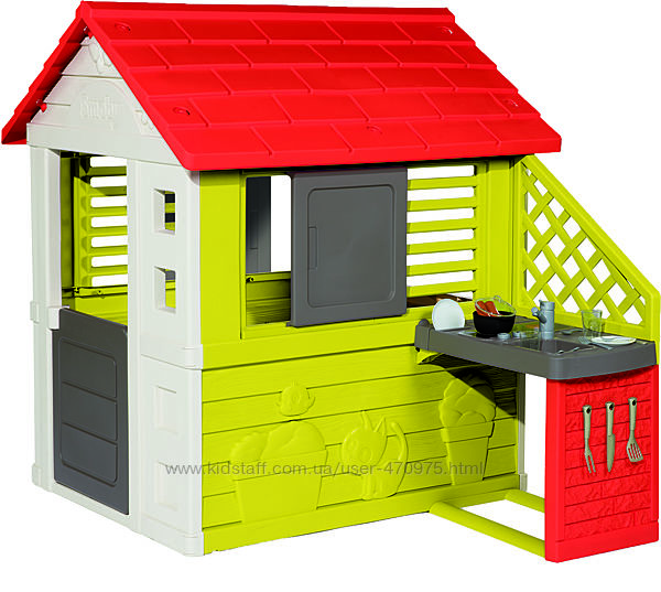 Домик Smoby Солнечный с летней кухней 810713