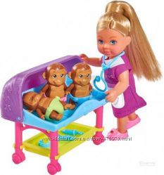 Кукольный набор Simba Эви Ветеринар с детками аксессуарами 5733073