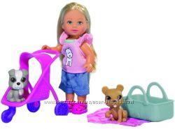 Кукла Ева с коляской и домашними любимцами Simba 5733080