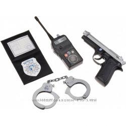 Детский набор Полиция рация, наручники, пистолет Simba