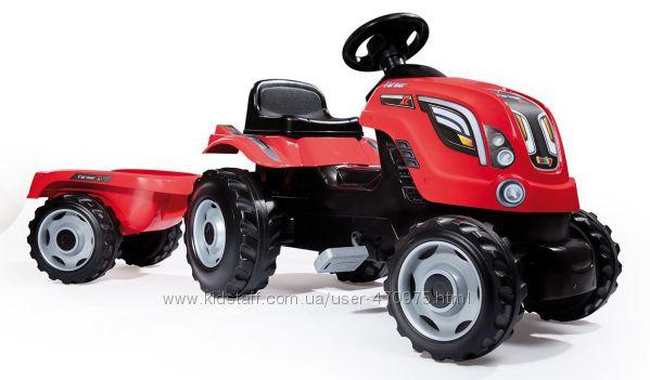 Smoby Трактор педальный Красный XL 710108 Франция