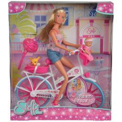 Кукла Штеффи с малышом и чихуахуа на велосипеде Simba 5739050