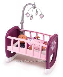 Кроватка Smoby Toys Baby Nurse Прованс с мобилем 47 см 220343