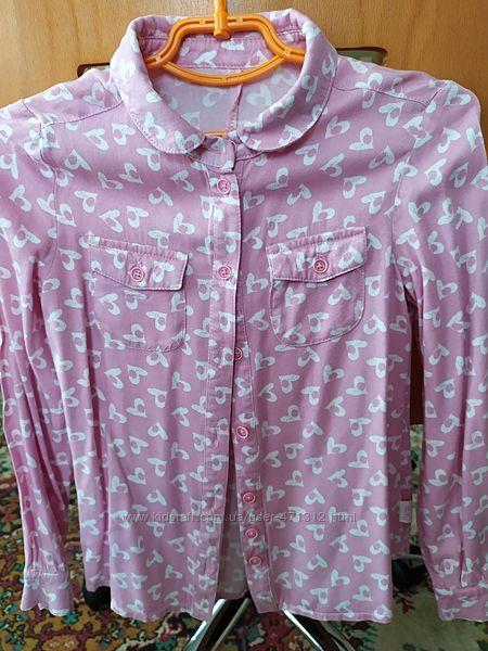 Рубашка для дівчинки 122 р.
