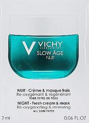 Vichy Slow Age ночная крем-маска для коррекции признаков старения кожи