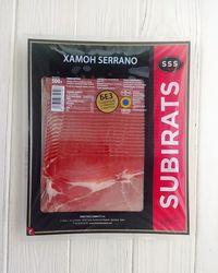 Хамон нарезка Subirats Jamon Serrano 500g Испания