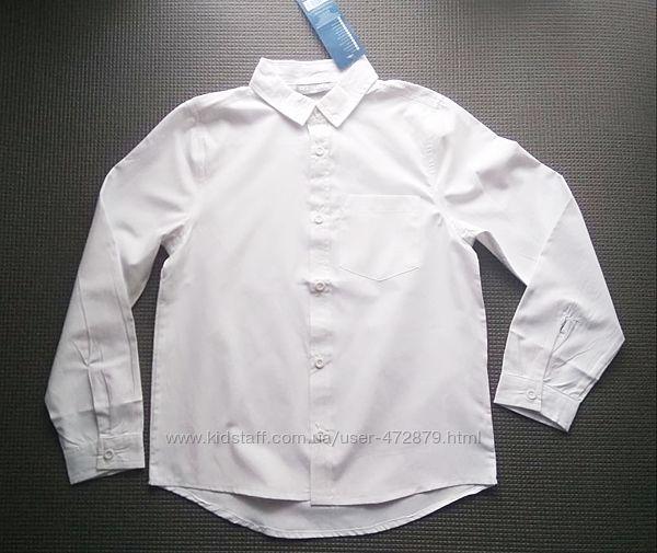 Белая рубашка с длинным рукавом для мальчика