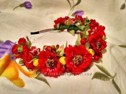 Обруч ободок венок в украинском национальном стиле