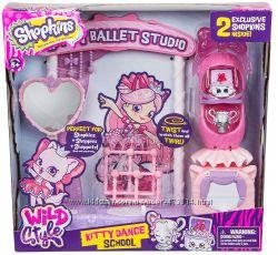 Набор Shopkins Школа танцев Китти Kitty Dance School Wild Style