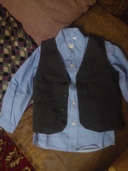 Комплект рубашка - жилет PALOMINO