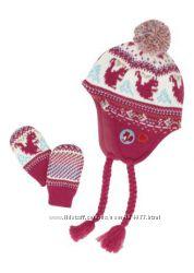 Шапка, шарф, перчатки на осень, зиму на девчулю от 12 мес. до 9 лет