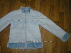 Дубленка искусственная, куртка, весна-осень р. 134-146