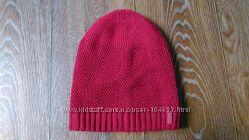 Теплая вязаная шапка с утеплителем флис