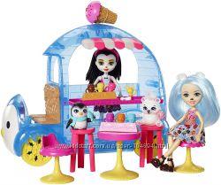 Набор Enchantimals Фургончик мороженого и 2 куклы Прина Пингвина и Лайла