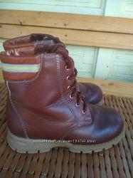 Зимние ботинки, 32 р, кожа, овчина