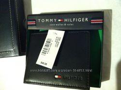 TOMMY HILFIGER  мужской кожаный портмоне с отдел. для монет