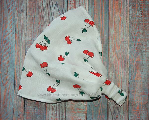 Красивая косынка с вишнями для девочек.