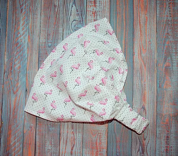 Красивая косынка с фламинго для девочек.
