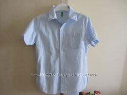 Рубашки Benetton 6-7 лет в отличном состоянии