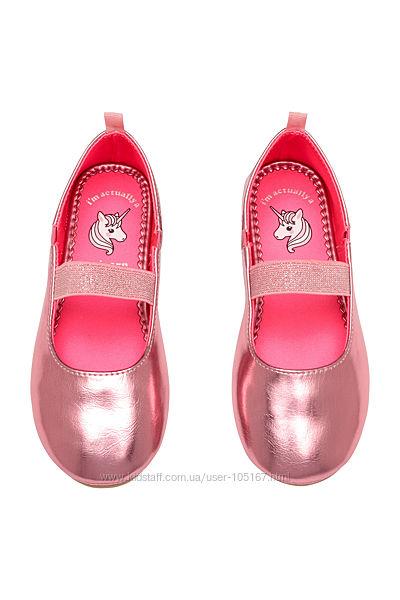 розовые туфли HM 27 размер