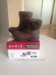 Продам французские кожаные сапожки Andre-21 р-р