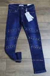 Джинсы и брюки на флисе для девочек 1-16 л. Сбор ростовок