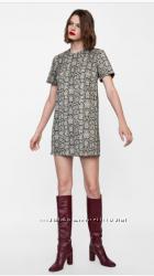 Платье Zara змеиный принт
