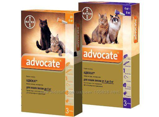 Средства от блох и клещей для кошек Advocate