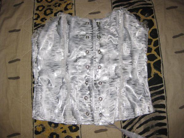 Белоснежный корсет, майка, блуза