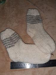 Носки из натуральной шерсти и рукавицы