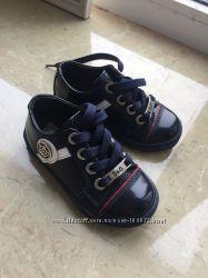 Крутые кожаные туфельки-кеды D&G оригинал р. 22