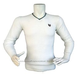 Мужской белый свитер - 2174