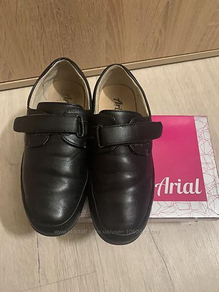 Туфли кожаные  в школу 32р