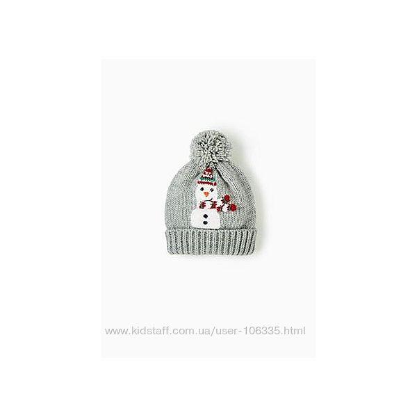 Шапка Zara со снеговичком