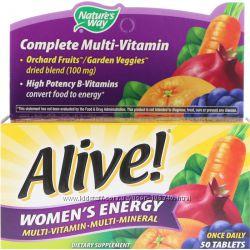 Витамины Natures Way, Alive для всей семьи