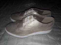 Золотые туфельки из Франции для модницы, 35 р-р, 22. 5 стелька