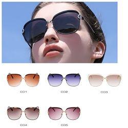 Солнцезащитные очки-бабочки с цветными бровями и буквой D на дужках