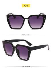 Солнцезащитные очки-трапеции с дымчатой или зеркальной линзой-накладкой