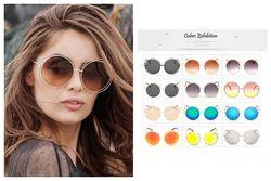 Крупные круглые солнцезащитные очки с тонкой обмоткой вокруг линз