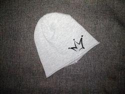 Деми трикотажная шапочка на флисе 46-49 см Prenatal