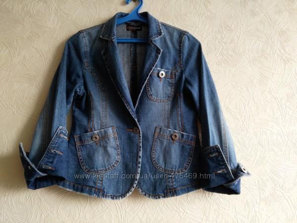 Джинсовый пиджак размер 38-40