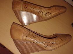 Шикарные туфли из перфорированной кожи, 25, 5 см