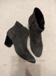шикарные замшевые ботиночки, 25 см, Англия