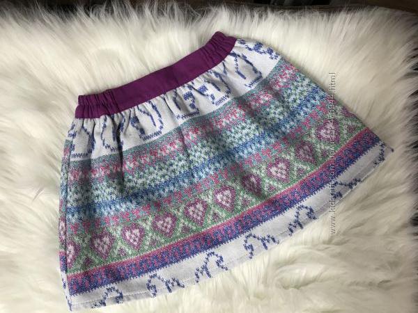 Польская детская юбка из теплой ткани MMDadak, р. 110, 116