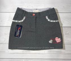 Польская детская юбка MMDadak с бантиками на задних карманах, р. 104, 110
