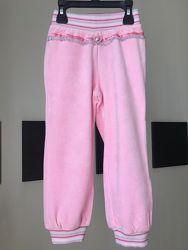 Польские хлопковые велюровые спортивные штаны для девочки